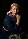 Femme indigène rouge de Dzao dans Sapa 2 Images libres de droits