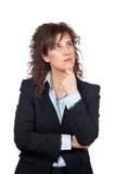Femme inquiétée d'affaires images stock
