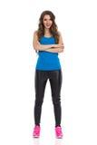 Femme intégrale avec les bras croisés Photos stock