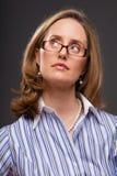 Femme intelligent photographie stock
