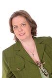 Femme irlandais avec les yeux verts Photographie stock libre de droits