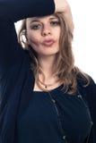 Femme ivre flirtant Images libres de droits