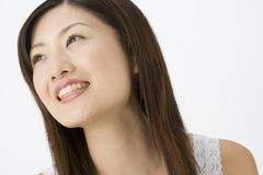 Femme japonaise de sourire photographie stock