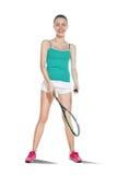 Femme jouant au squash Images stock