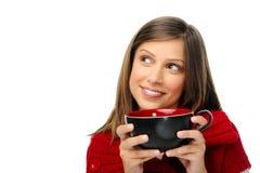 Femme joyeuse heureuse de Noël photo libre de droits