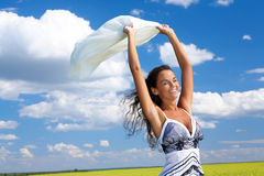 Femme joyeux photos libres de droits