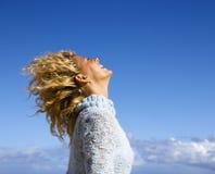 Femme joyeux. Images libres de droits