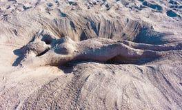 Femme latérale 1 de sable Image libre de droits