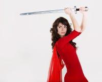 Femme le soldat Image stock
