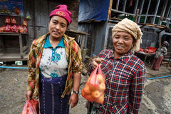 Femme locale en Chin State, Myanmar Image stock