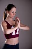 Femme méditant Photos stock