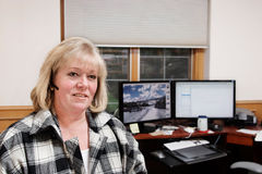 Femme mûr travaillant dans le Home Office  Photo libre de droits