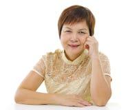 Femme mûre asiatique Photos libres de droits