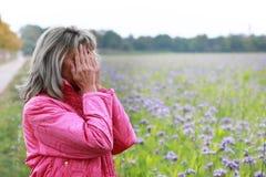 Femme mûre avec la dépression Image stock