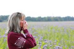 Femme mûre avec la dépression Photographie stock libre de droits