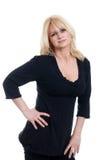 femme mûre blonde d'assiette photographie stock libre de droits