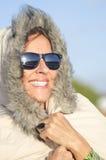 Femme mûre de verticale de l'hiver Images stock