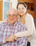 Femme mûre avec le mari de sourire photo libre de droits