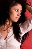 Femme magnifique avec le long cheveu. Image stock