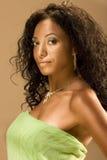 femme magnifique ethnique âgée de verticale de beauté mi Image stock