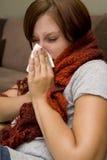 Femme malade Photo stock