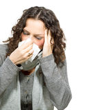 Femme malade. Grippe Photographie stock libre de droits