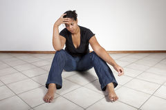 Femme malheureux Photographie stock libre de droits