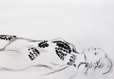 Femme maltraité Photo libre de droits