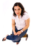 Femme mignonne de brunette Photo libre de droits