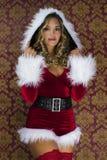 Femme mignonne de Santa Photo libre de droits