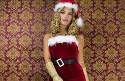Femme mignonne de Santa Photo stock