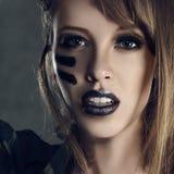 Femme militaire de mode Photos libres de droits