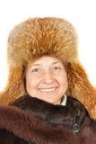 Femme modelant la mode de l'hiver Photo stock