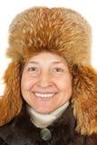 Femme modelant la mode de l'hiver Photographie stock libre de droits