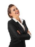 Femme moderne de sourire d'affaires Images libres de droits