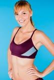 Femme modifiée la tonalité dans les vêtements de sport Photo stock