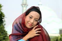 Femme musulman à la mosquée Image libre de droits
