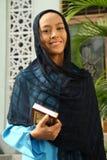 Femme musulman à la mosquée Photo libre de droits