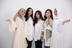 Femme musulmane asiatique Concept d'Eid Mubarak Images stock