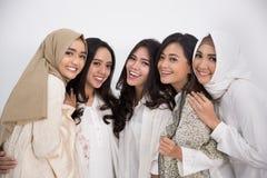 Femme musulmane asiatique Concept d'Eid Mubarak Photographie stock libre de droits