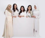 Femme musulmane asiatique Concept d'Eid Mubarak Photos libres de droits
