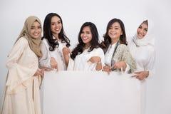 Femme musulmane asiatique Concept d'Eid Mubarak Photo stock