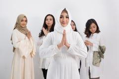 Femme musulmane asiatique Concept d'Eid Mubarak Images libres de droits