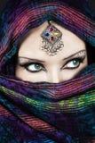 Femme mystérieuse Photo stock