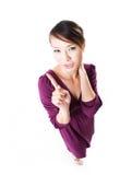Femme ne faisant des gestes aucun No. de numéro image stock