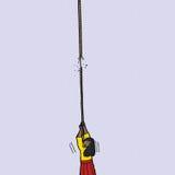 Femme nerveuse avec la corde frangée Photographie stock libre de droits