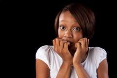 Femme nerveux Photos libres de droits