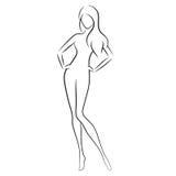 Femme nu Images stock