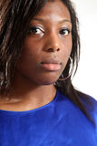 femme occasionnelle noire Photographie stock