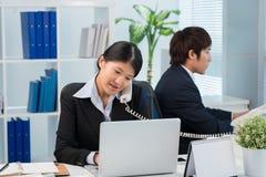 Femme occupée d'affaires Image libre de droits